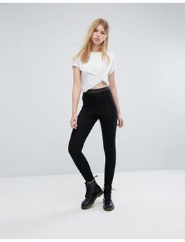 asos-leggings-with-shirred-waistband by asos-collection