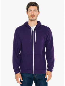 unisex-flex-fleece-zip-hoodie by american-apparel