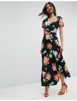 asos-maxi-tea-dress-with-open-back-in-floral by asos-collection