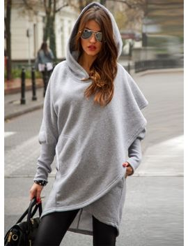 """<Span Itemprop=""""Name"""" Content=""""Fashion Long Sleeve Solid Irregular Hoodie"""">Fashion Long Sleeve Solid Irregular Hoodie</Span> by Oasap"""