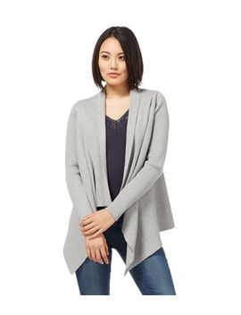 Womens Cashmere And Cotton Ribbed Waterfall Cardigan by Wool Overs