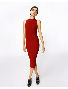 ribbed-knit-dress by nicole-miller