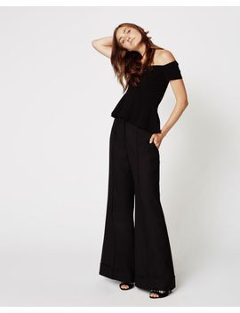 Wool Wide Leg Pants by Nicole Miller