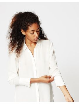 Silk Boyfriend Blouse by Nicole Miller