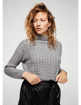 pullover-maglia-intrecciato by mango