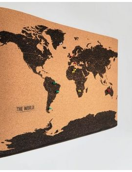 Shoptagr gift republic world map cork board by asos asos gift republic world map cork board gumiabroncs Image collections