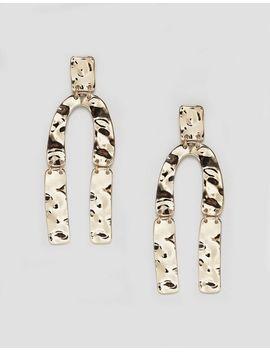 monki-hammered-horse-shoe-earrings by monki