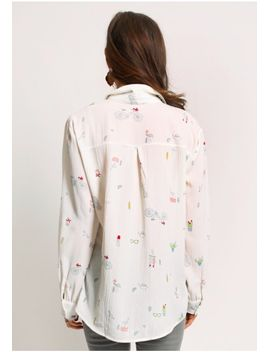 Through The Park Printed Blouse by Ruche