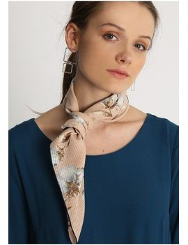 Magnolia Floral Print Bandana Scarf by Ruche