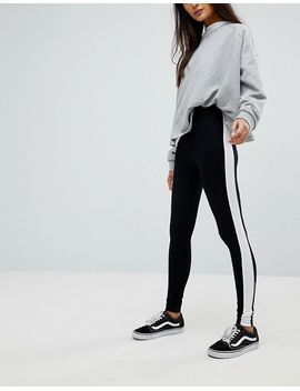 asos-design-leggings-with-side-stripe by asos-design