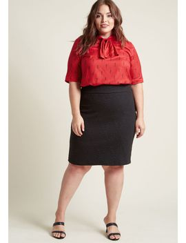 quilted-knit-pencil-skirt by modcloth