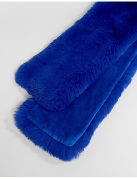 new-look-blue-faux-fur-stole by new-look