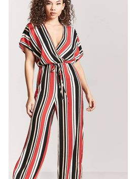 striped-wide-leg-jumpsuit by forever-21