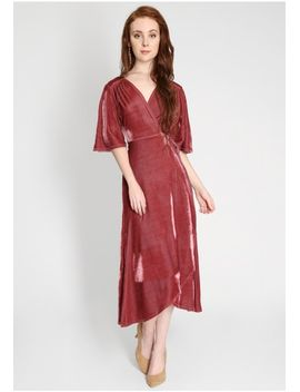 Regal Velvet Wrap Dress by Ruche