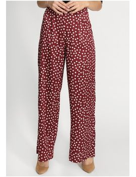 Soft Touch Polka Dot Palazzo Pants by Ruche