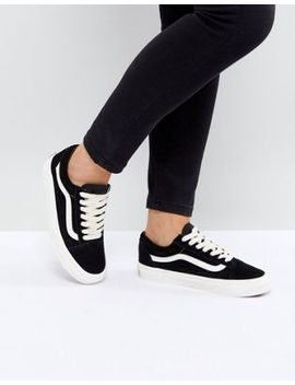 Shoptagr | Vans - Old Skool - Baskets Unisexe En Daim - Noir ...