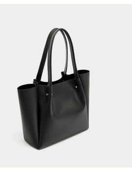 tote-bag-with-metal-appliquÉ-detail--bagssale-woman by zara