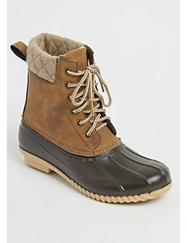 camel-wool-trimmed-duck-boots by rue21