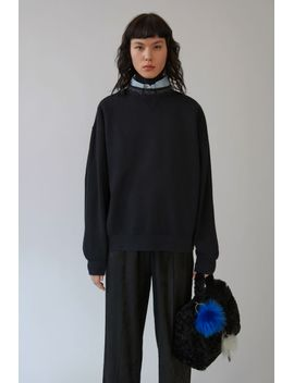 voluminous-sweatshirt-black by acne-studios