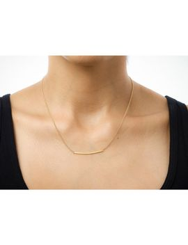 Large Square Bar Necklace, Gold Dipped by Dogeared