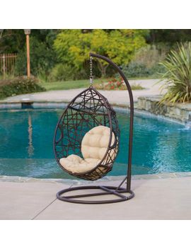 Berkley Outdoor Swinging Egg Chair by Gdf Studio