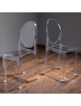 Cayden Transparent Pc Ghost Accent Chairs (Set Of 2) by Gdf Studio