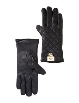 quilted-leather-gloves by michael-michael-kors