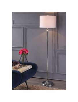 """reese-595""""-crystal-led-floor-lamp,-clear_chrome by jonathan-y"""