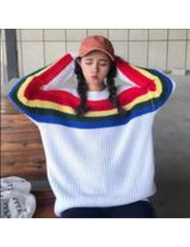 """""""stripe-of-rainbow""""-sweaters by so-aesthetic-shop"""