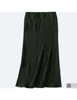 women-uniqlo-u-3d-printed-merino-ribbed-skirt by uniqlo