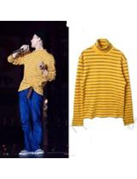 """""""yellow-striped""""-turtleneck by so-aesthetic-shop"""