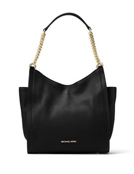 newbury-medium-leather-chain-shoulder-tote-bag by michael-michael-kors