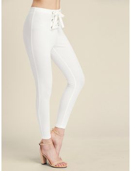sheingrommet-lace-up-front-leggings by sheinside