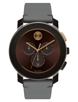bold-chronograph-leather-strap-watch,-42mm by movado