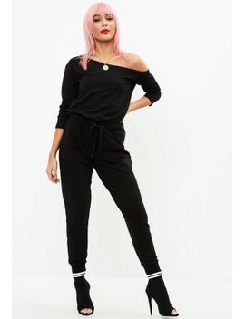 black-long-sleeve-jumpsuit by missguided