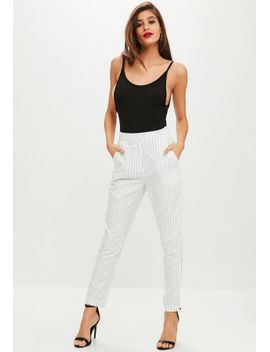 white-pinstripe-cigarette-pants by missguided