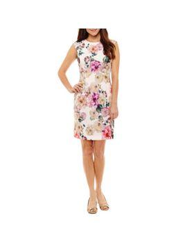 r-&-k-originals-short-sleeve-floral-sheath-dress-petite by r-&-k-originals