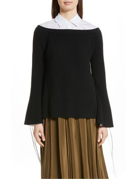 off-the-shoulder-wool-&-cashmere-sweater by robert-rodriguez