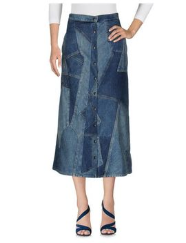 saint-laurent-denim-skirt---jeans-and-denim by saint-laurent