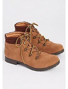 taupe-faux-suede-hiking-boots by rue21