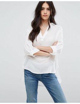 vila-shirt-hem-blouse by vila