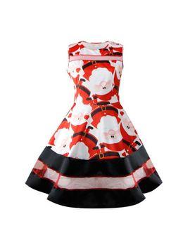 binmer-womens-santa-snowman-christmas-dress-sleeveless-xmas-swing-retro-dresses by binmer
