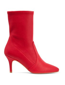 cling-leather-sock-boots by stuart-weitzman