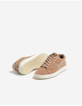 leather-sneakers-with-gem-embellishment by stradivarius