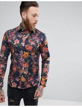 asos-skinny-floral-print-shirt by asos