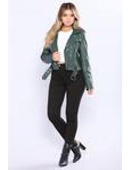 harlie-moto-jacket---hunter by fashion-nova