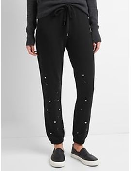french-terry-star-print-joggers by gap