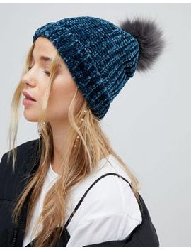 new-look-chenille-faux-fur-bobble-hat by new-look