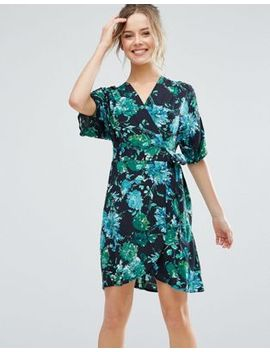 closet-london-tropical-print-short-sleeve-skater-dress by closet