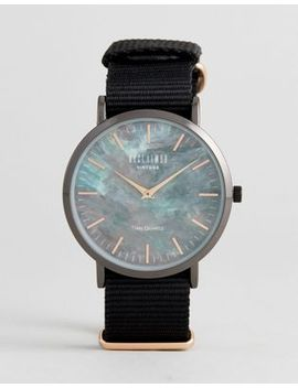 reclaimed-vintage-inspired-utility-marble-canvas-watch-in-black-exclusive-to-asos by reclaimed-vintage